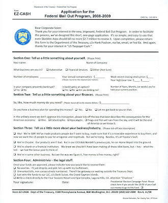 EZ Cash Federal Bailout Form