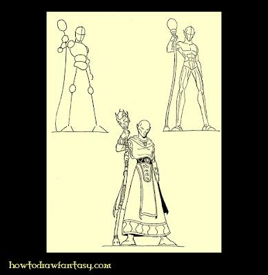 Fantasy art folio how to draw a sorcerer elf comment - Dessiner un elfe ...