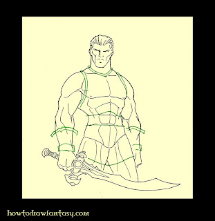 How to draw a studded leather armour. Fantasy art.