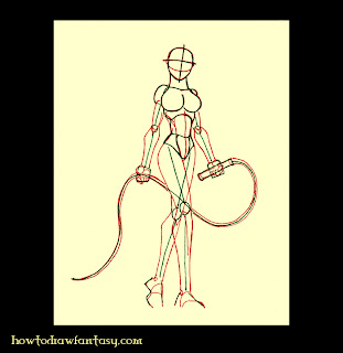 Catwoman anatomy drawing tutorial