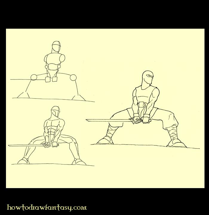 Apprendre a dessiner un ninja - Comment dessiner un ninja ...