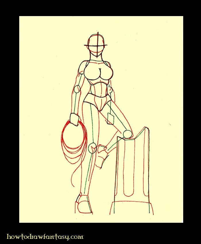 apprendre a dessiner wonder woman