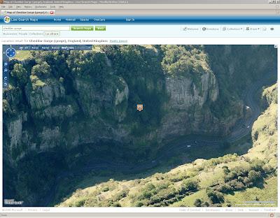 Cheddar Gorge BirdsEye View Live Maps