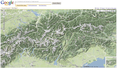 Google Maps Terrain - The Alps