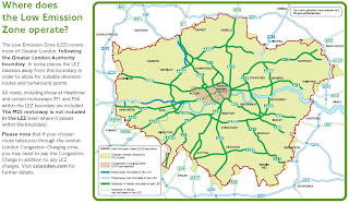 London Low Emission Zone Maps