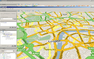 Google Maps in Google Earth London