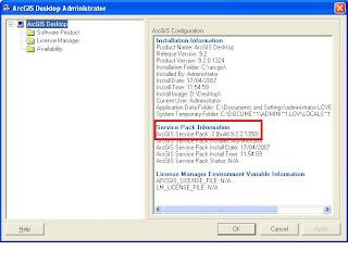 ArcGIS Service Pack 2 Desktop Administrator