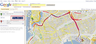 Google Maps directions plus traffic times