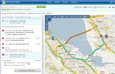 Live Search Maps Preview