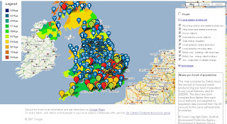 Google UK - The Carbon Footprint Project Map - Waste