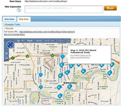 Edmonton Bing map