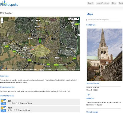 Photospots.co.uk Google Map