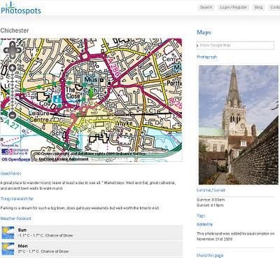 Photospots.co.uk OS Map