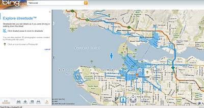 Streetside Bing Maps Vancouver