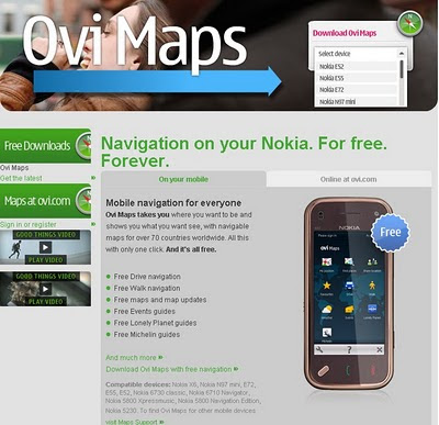 Nokia Ovi Maps Free for Life