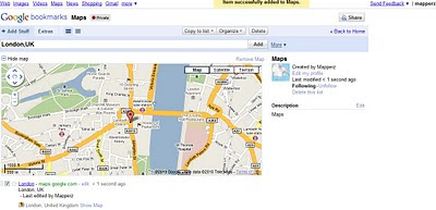 Google Bookmarks Share Maps