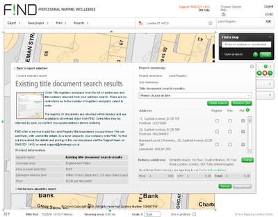 Find - Land Registry documents via a map interface