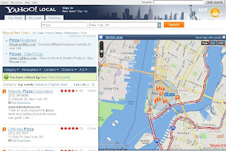 Yahoo Local Nearest Interactive Radius Slider