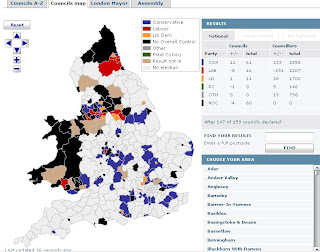 BBC Local Elections Map Results
