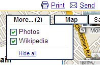 Google Maps More and Explore Location
