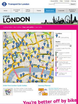 Transport for London Cycle Map