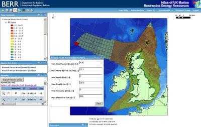 BERR UK WIND POWER MAP EXPORT TO XLS