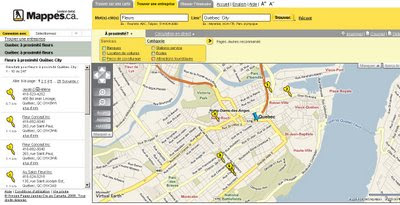 Yellow Pages Canada Maps French (Beta)