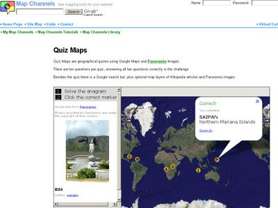 Map Channels Quiz Maps