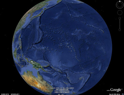 Google Earth Bathymetry Pacific