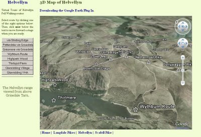 English Lake District  3D Map Helvellyn