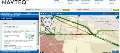 Navteq Maps Beta Real-time traffic usa only