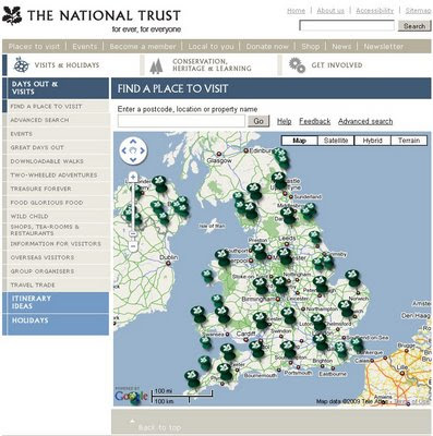 National Trust Google Map Beta