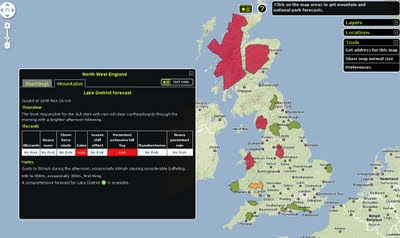 Faster Met Office National Parks Maps Weather Warnings