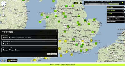 Faster Met Office Temperature Map