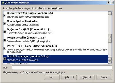 QGIS plugin manager