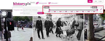 Historypin beta - Streetview with TimeLine Slider