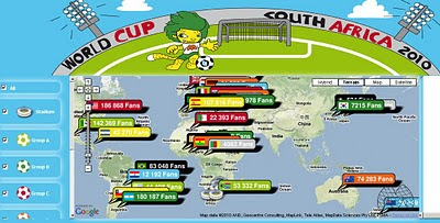 Mapsize World Cup 2010