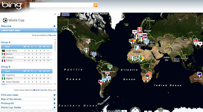 Bing Maps South Africa World Cup 2010 App