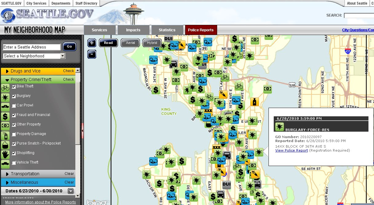 Bing Maps Watch: Seattle.gov \'My Neighborhood\' - Bing Maps