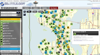 Seattle Police 'My Neighborhood' Crime Map