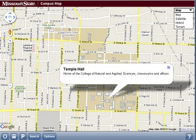 Missouri State University Campus v3 Mobile Map