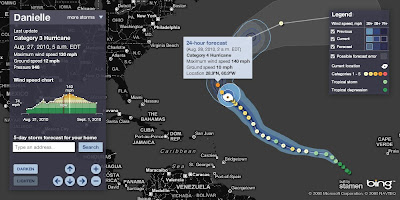 Hurricane Tracker Bing Maps