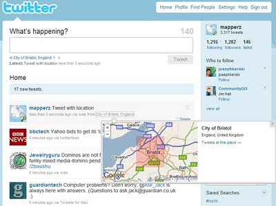 Mapperz Twitter Tweet Location Map