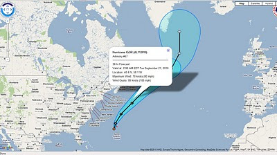 Hurricane IGOR Advisory Archive NOAA KML/KMZ - National Weather Service