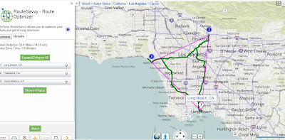 Route Savvy App  Bing Maps