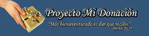 Proyecto Mi donación