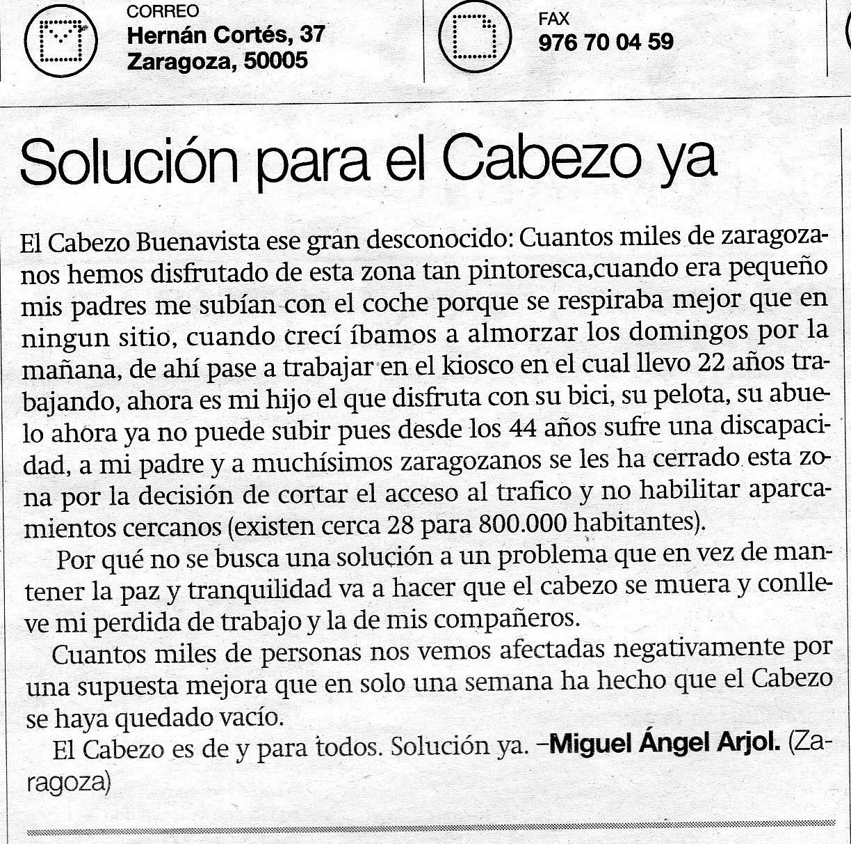 Agustinos zaragoza soluci n para el cabezo ya for Piscina agustinos zaragoza