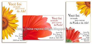 Nina Raposa Design Convite Aniversário