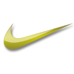 Yellow Logo of Nike  Nike Mobile Wallpaper  ThemeNike Logo Yellow