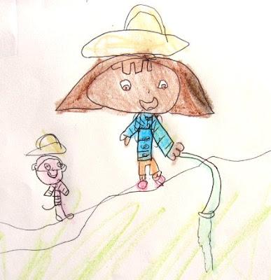Desenho da Dora, a exploradora